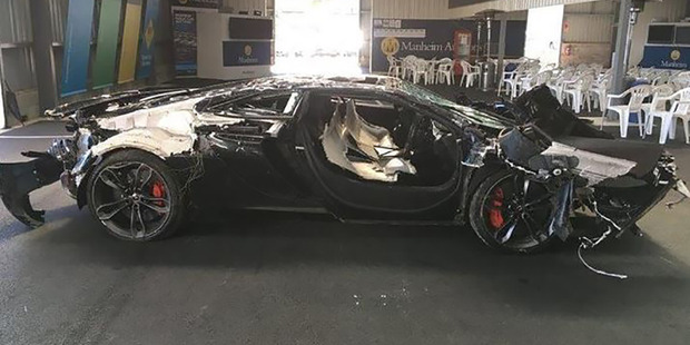 The supercar was being taken for a test drive when it crashed. Photo / Supplied