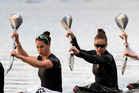 GOLD AGAIN: The New Zealand K4 500m crew of Lisa Carrington, Kayla Imrie, Caitlin Ryan and Hawke's Bay's Aimee Fisher which won gold for the second time within a week. Photo/NZME