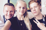 Joshua Waite (right) with sister Ashley Waite and father Andy Waite.Photo / Facebook