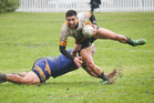 Fullback Connor Hohepa scored the match-winning try for Otumoetai Eels against Pacific Sharks at Mitchell Park on Saturday. Photo / Andrew Warner
