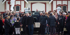 View: John Chadwick's body arrives at marae