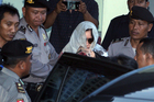 Australian drug smuggler Schapelle Corby pictured in Bali yesterday after leaving the parole office in Bali, Indonesia. Photo / AP