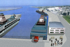 Fears: Ferry service proposal could put port development at risk.Photo/file