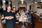 Robert Oliver, left, and head chef Bertrand Jang at Kai Pasifika, 3 Mt Eden Rd, Mt Eden. Photo / Getty Images.