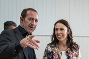 Labour Party leader Andrew Little (left) with deputy Jacinda Ardern. Photo / Michael Craig