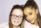 Georgina Callander pictured with Ariana Grande at a concert two years ago. Georgina, best friend to Hamilton girl Skye Gallagher, died in the Manchester bombing. Photo / via Instagram