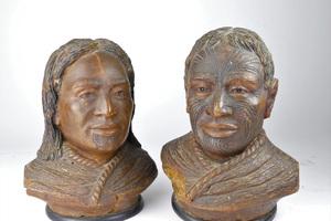 Rare kauri gum carvings fetch $6250