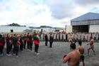 Te Kapehu Whetu provide the New Zealand Barbarians with a rousing welcome to Whangarei. Photo/Brenda Meyer