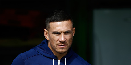 Sonny Bill Williams of the Blues during an Auckland Blues Super Rugby training session. Photo / Getty Images.