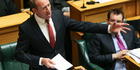Labour leader Andrew Little must have felt powerless when he stood up in Parliament on Budget Day. Photo / Getty