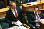 Labour leader Andrew Little speaks during the 2017 budget presentation at Parliament. Photo / Getty Images