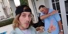 Watch: 'That's my boy!' Jon Key dabs for Max's 22nd birthday