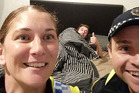 Tasmanian police take a selfie for a drunk man to remember how he got home. Photo / Tasmania Police