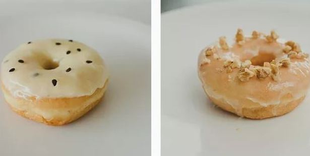 """Passionfruit Dream and Maple Walnut are two """"flavours of the month"""". Photo / Mamas Donuts"""