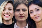Greens candidates (L-R): Hayley Holt, Chloe Swarbrick and Golriz Ghahrahman. Photos / Supplied