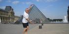 Actor Mark Hadlow at the Louvre, in Paris.