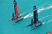 Team New Zealand and Artemis raced in a classic encounter. Photo /  Ricardo Pinto
