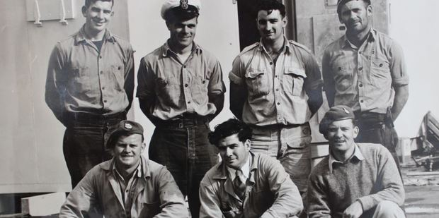 TEAM EFFORT: Randal Heke, front middle, and his Scott Base construction team.