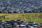The filled carparks highlight the popularity of Fieldays. Photo / File