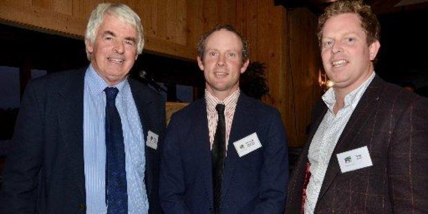 Richard Morrison, flanked by the new vice-presidents, Fraser Gordon, left, and Paul Olsen.