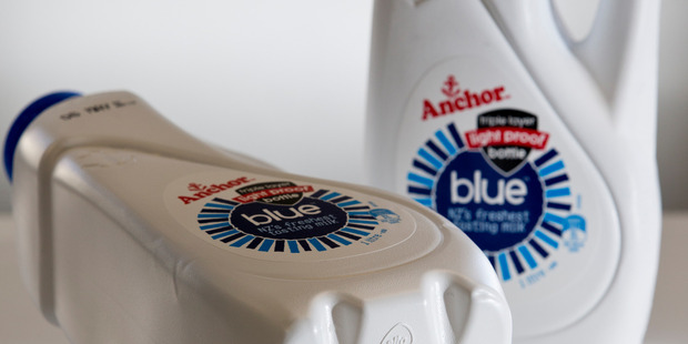 Anchor recalled some of its blue top milk after complaints it tasted funny. Photo/File