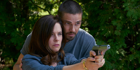 Jay Ryan with Mary Kills People's star Caroline Dhavernas. Photo / Supplied