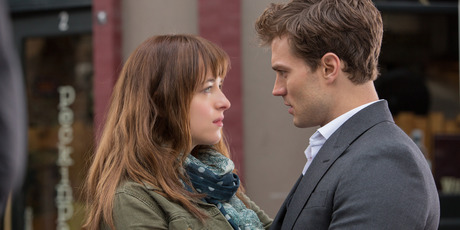 Fifty Shades of Grey stars Dakota Johnson and Jamie Dornan. Photo / supplied