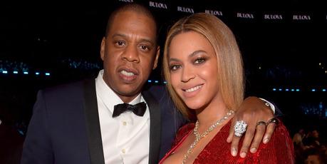 Jay Z and Beyonce at the 59th Grammy Awards in February 2017. Photo / Getty