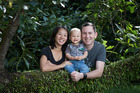 Rebecca and Patrick Malley, co-owners of Maungatapere Berries, with their son Austin.