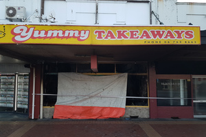 Yummy Takeaways on Broadway Stratford has been left gutted by a fire on Monday night. Photo: Ilona Hanne