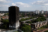 The remains of Grenfell Tower in London. Photo/File
