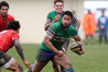 Rampant Loosie: Napier Old Boys Marist No 8 Joseph Penitito on the way to one of his two tries. Photo/Duncan Brown