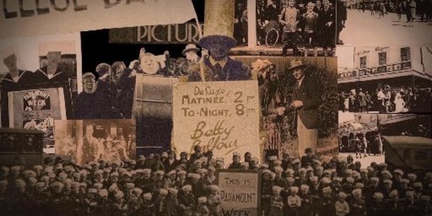 A still from Nick's 30 second film on the Kings Theatre centenary.