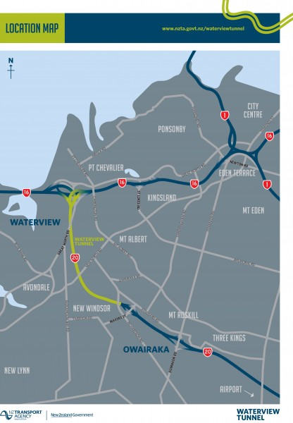 The Waterview tunnel  completes Auckland's 48km western motorway ring route, also making it easier to get to the airport. Image / NZTA