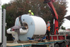 The  Siemens 1.5T MRI machine arrives in Whangarei on June 16. It took 2.5 hours for it to be shifted into the TRG building.