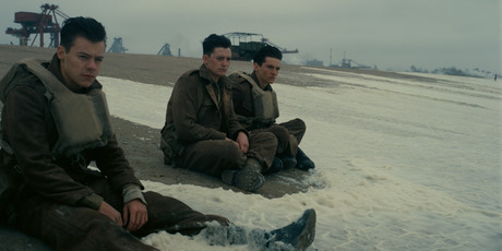 Harry Styles (front) makes his acting debut in Dunkirk, directed by Christopher Nolan.