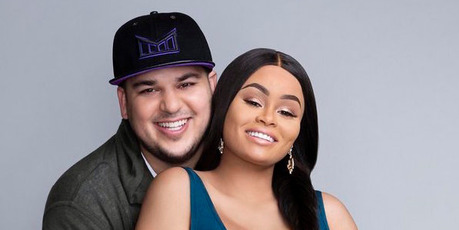 Rob Kardashian and Blac Chyna. Photo / Tommy Garcia, E!