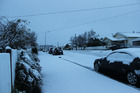 Freezing overnight temperatures yesterday saw Dannevirke blanketed in deep snow. Photos / Christine McKay
