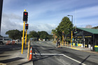 The Far North's first set of permanent traffic lights began operating in Paihia yesterday.