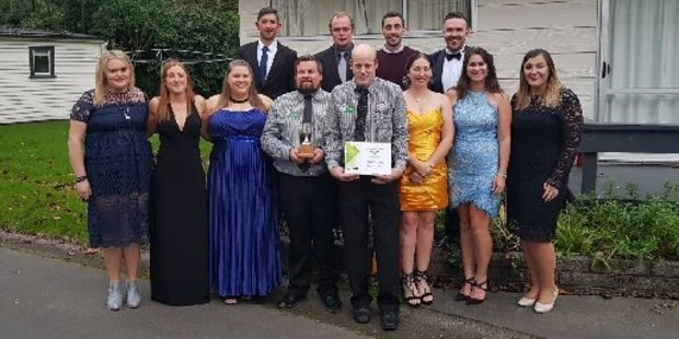 Some of the club members at the FMG Young Farmer of the Year grand final.
