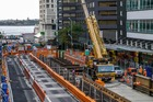 Main excavation work on the City Rail Link is begining on the Albert St section between Customs and Wyndham Sts. Photo / Supplied