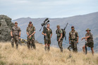 The Red Stag Timber Hunters Club Hunters Club member Andre Alipate (second from right) spoke to Dom George on The Country Early Edition. Photo / Supplied