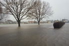 Oamaru was flooded yesterday and while there will be a brief respite from the rain, more is on the way. Photo / Waitaki District Council