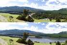 BEFORE AND AFTER: Uncertainty clouds whether the Ruataniwha dam project will be able to proceed. PHOTO/FILE