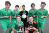 Seven of the eight-strong Hawke's Bay contingent in the Central under-19 boys futsal team which won their national tournament last weekend. Photo/Duncan Brown
