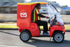 Ronald Walters, a postie for 10 years, uses the new Paxster buggie to deliver mail in the streets of Morningside. PHOTO/John Stone