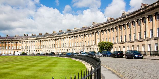 The Royal Crescent, a heritage street in the English city of Bath. Photo / 123RF
