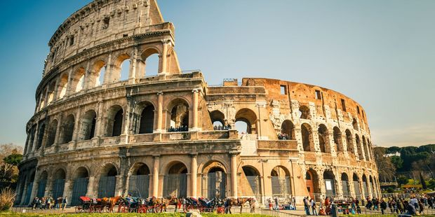 The tourists scaled the gate of the Colosseum, but fell. Photo / 123RF