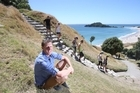 Tauranga City Council parks asset co-ordinator Dave Grimmer has been surprised at the huge number of people climbing Mount Maunganui's Mauao over the holiday season. PHOTO/JOHN BORREN