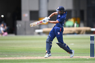 Auckland's Sean Solia batting during the Ford Trophy one day cricket match between Auckland Aces and Otago Volts. Photo / Photosport